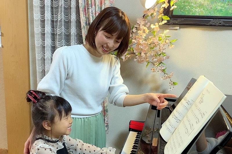 笑顔の絶えない明るいピアノ教室